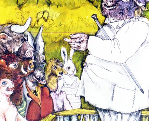 """""""Il coniglio e il cinghiale"""" ….ne vennero molti con i loro arnesi da lavoro… pag. 17"""