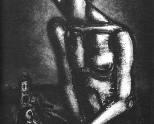 """Georges Rouault """"Ne sommes-nous pas forçats?""""- Héliogravure - (1926) cm. 59x43,5"""