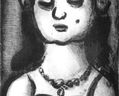 """Georges Rouault """"Sainte-Nitouche""""- Acquaforte, acquatinta, puntasecca - (1918-1928) cm. 25,5x16,5"""