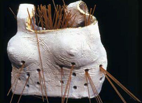 Il colapasta - Scultura in terra refrattaria - 2001